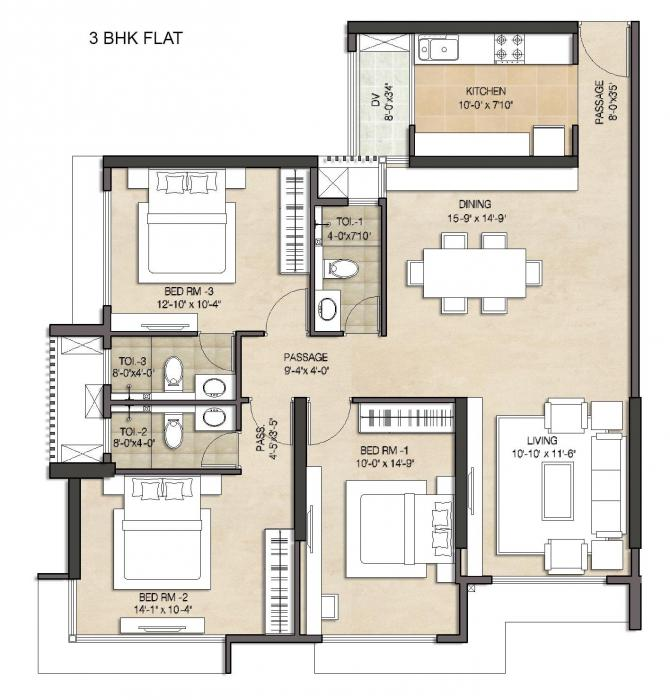 The Wadhwa Anmol Fortune, Mumbai - Floor Plan