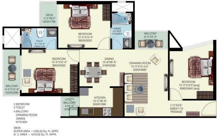 Mahagun Mywoods, GreaterNoida - Floor Plan