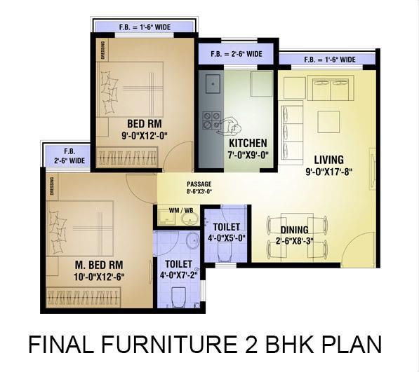 Arihant Amisha Phase 1, NaviMumbai - Floor Plan