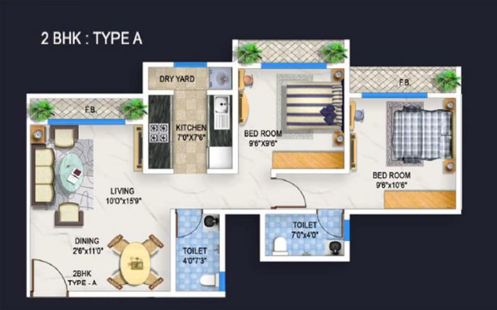 Bhoomi Acropolis, Mumbai - Floor Plan