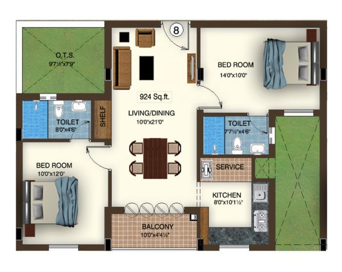 Rajparis Sarovar, Chennai - Floor Plan