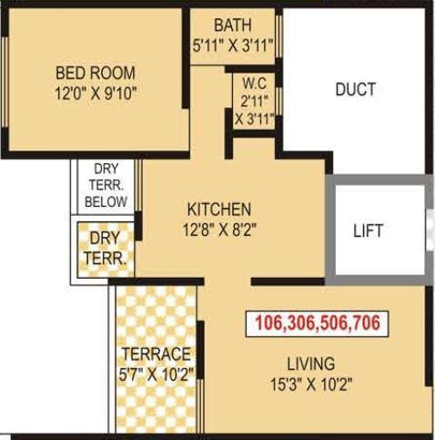 Icon Windsor Apartments, Pune - Floor Plan
