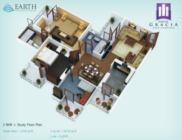 Earth Gracia, GreaterNoida - Floor Plan