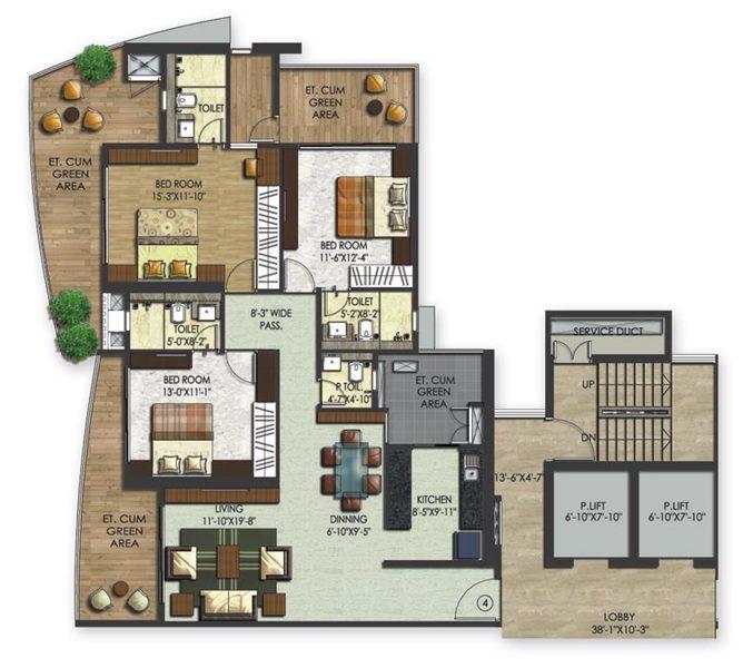 Wadhwa The Nest, Mumbai - Floor Plan