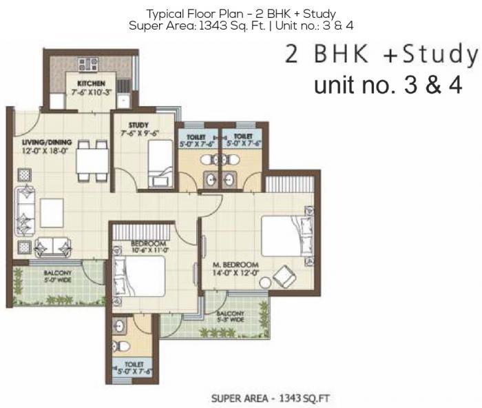 Orris Golf Homes Greenbay, GreaterNoida - Floor Plan