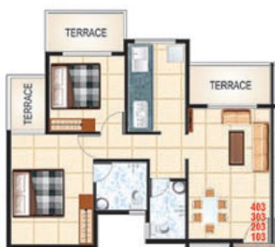 Ganga Regency, NaviMumbai - Floor Plan