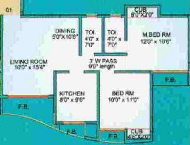 Ashirwad Shreepati Residency, Mumbai - Floor Plan