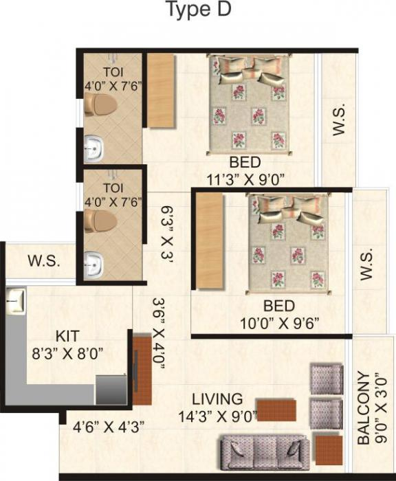Omkar Royal Residency, NaviMumbai - Floor Plan