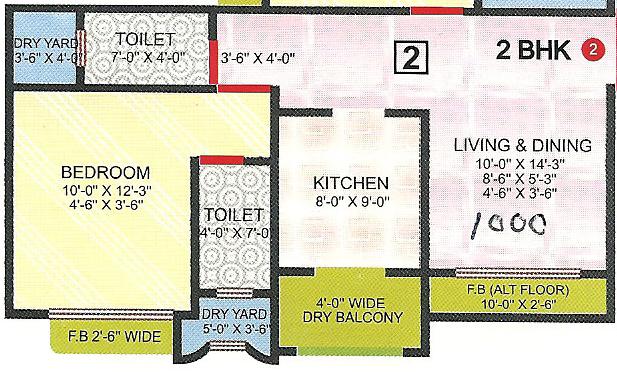 Sadguru Laxmi Heaven, Mumbai - Floor Plan
