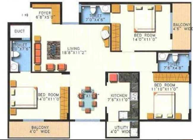 Balaji Pristine, Bangalore - Floor Plan