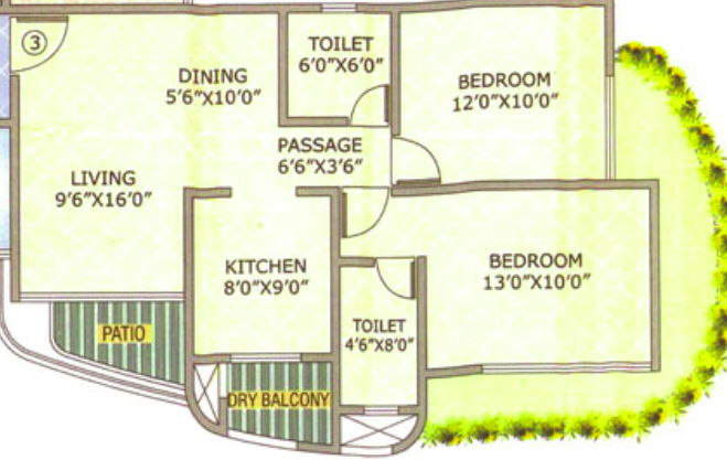 Raj Atlantis II, Mumbai - Floor Plan