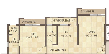 Cosmos Orchid, Thane - Floor Plan