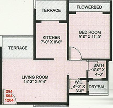 Neelkanteshwar Neel Galaxy, NaviMumbai - Floor Plan