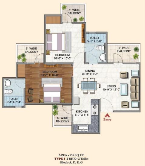 BSB Vaibhav Heritage Height, GreaterNoida - Floor Plan