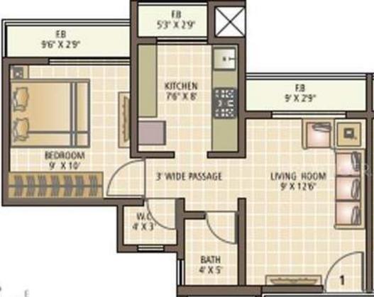 Squarefeet Imperial Square, Thane - Floor Plan