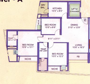 Evershine Crown, Mumbai - Floor Plan