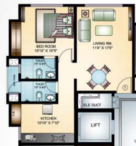 Damji Mahavir Exotica, Thane - Floor Plan