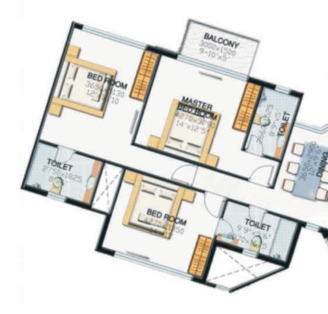 Parsvnath Palacia, GreaterNoida - Floor Plan