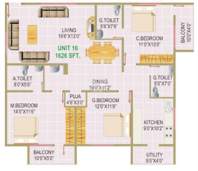 MS Royal, Bangalore - Floor Plan