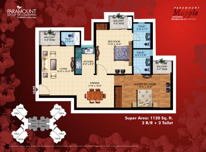Paramount Mapple, Ghaziabad - Floor Plan