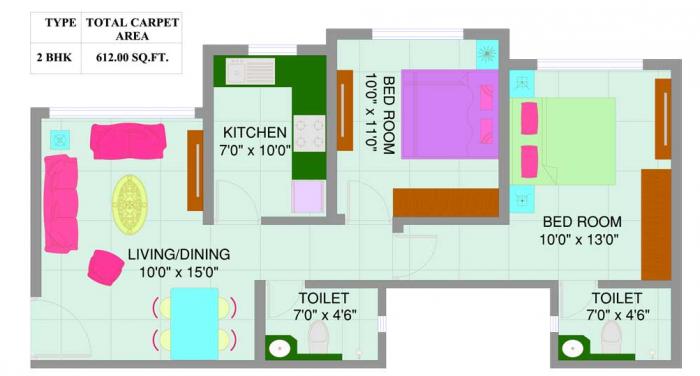 Nirmal Center Court, Mumbai - Floor Plan