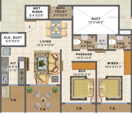 Choice Ambe Sagar, Mumbai - Floor Plan