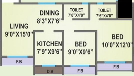 Agarwal Solitaire, Mumbai - Floor Plan