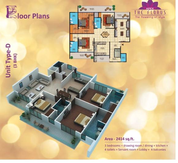 Apex The Florus, Ghaziabad - Floor Plan