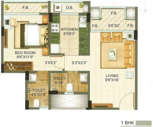 Poonam Heights, Mumbai - Floor Plan