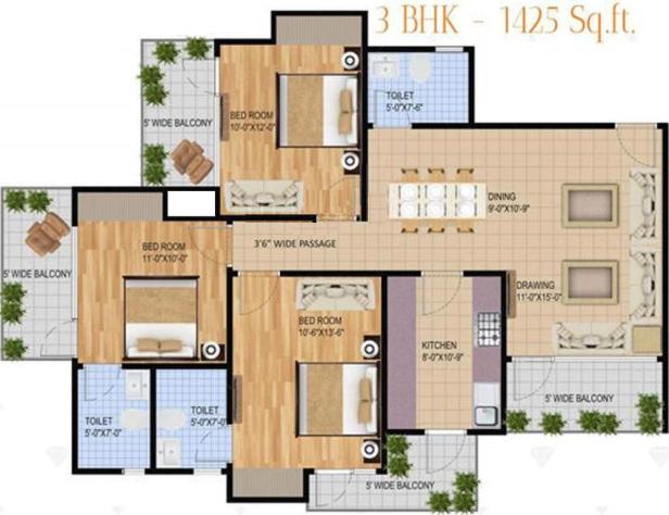 Le Solitairian Estate, GreaterNoida - Floor Plan