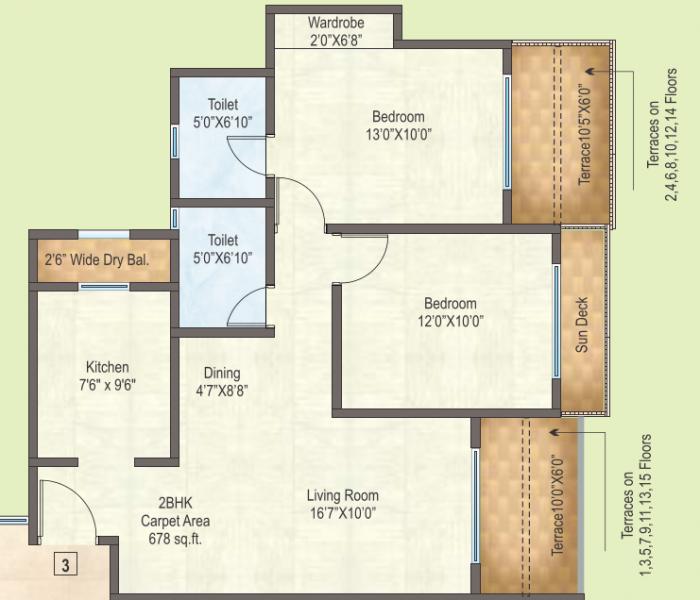 Raunak City, Mumbai - Floor Plan
