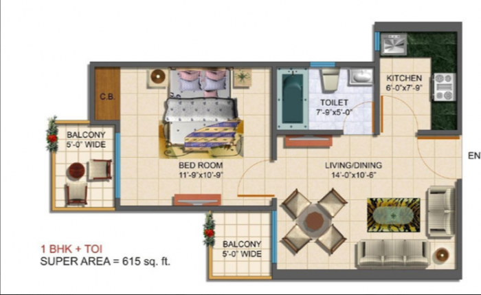 Maxblis Grand Wellington, Noida - Floor Plan