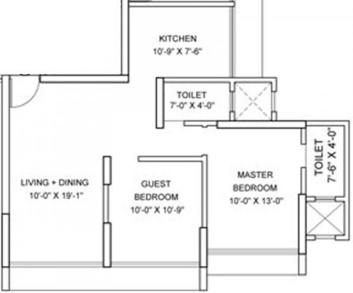 Parinee Adney, Mumbai - Floor Plan