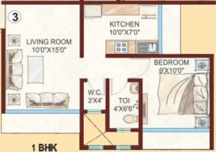 Kabra Aurum, Mumbai - Floor Plan