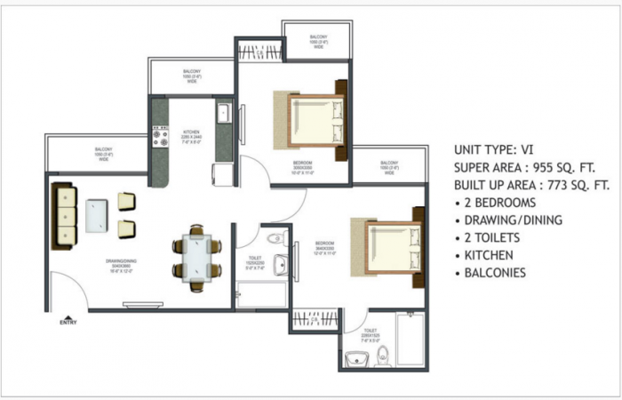 Prateek Wisteria, Noida - Floor Plan