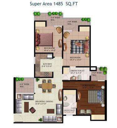 A R Reflections, Ghaziabad - Floor Plan