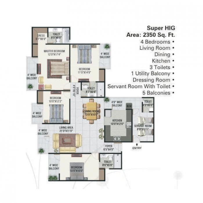 Panchsheel Greens I, GreaterNoida - Floor Plan