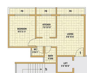 Satyam Aura, NaviMumbai - Floor Plan