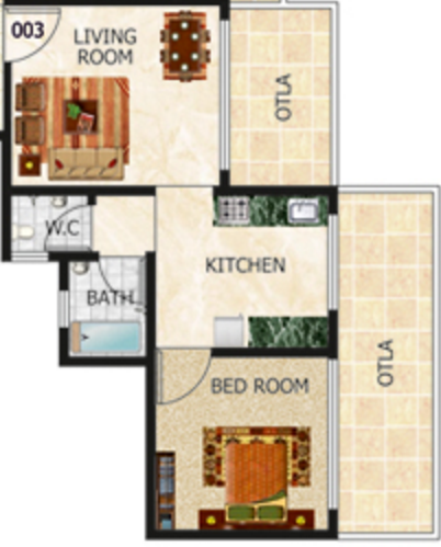 Tulsi Kalash, Mumbai - Floor Plan