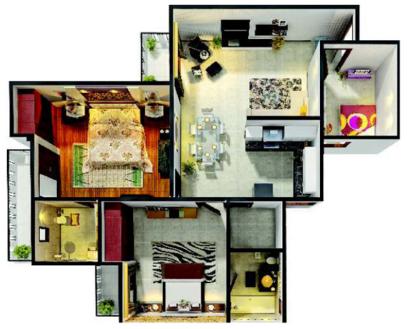 Gaur City 6th Avenue, GreaterNoida - Floor Plan