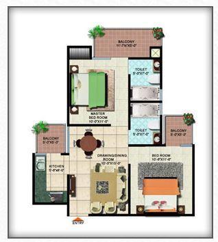 DBF Dev Height, Ghaziabad - Floor Plan