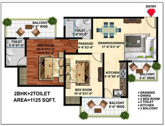 Wall Rock Aishwaryam, GreaterNoida - Floor Plan