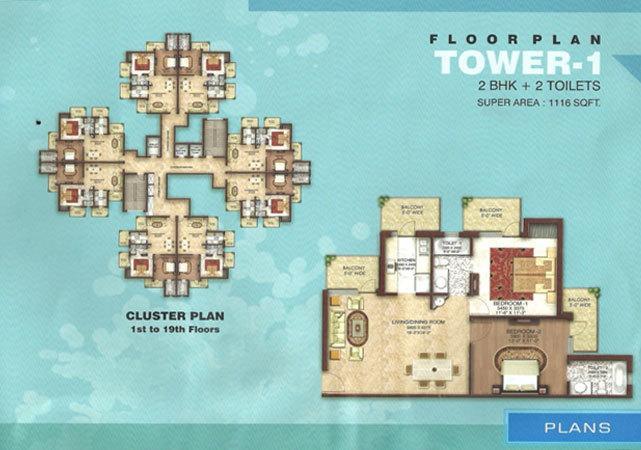 Aastha Greens, GreaterNoida - Floor Plan