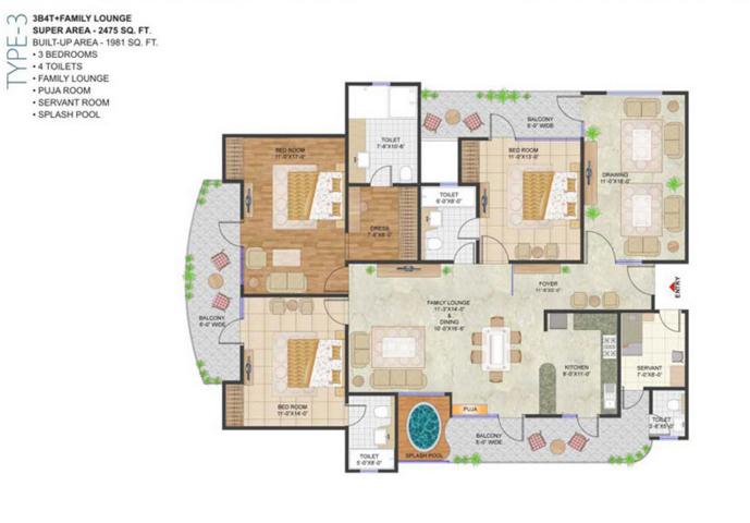 Prateek Stylome, Noida - Floor Plan