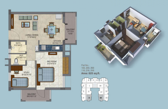 Doshi Euphoria, Chennai - Floor Plan