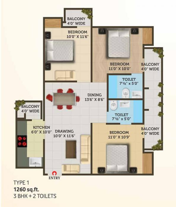 Shree Energy Classic Residency J Block, Ghaziabad - Floor Plan