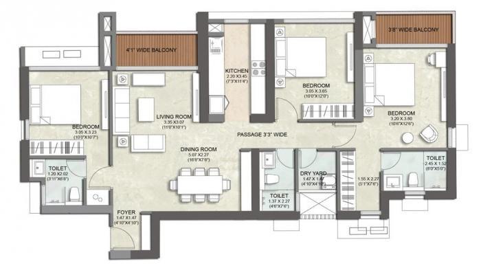 Kalpataru Immensa, Thane - Floor Plan