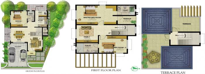 Prestige Royal Woods, Hyderabad - Floor Plan