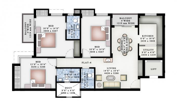 Ruby Grand, Chennai - Floor Plan