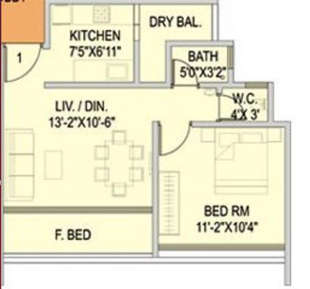 BBJ Siena, Mumbai - Floor Plan